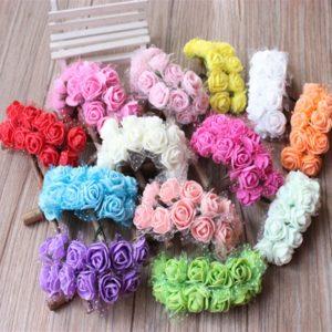 Dekorativní pěnové růžičky 144 kusů