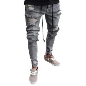 Pánské stylové trhané kalhoty Jasper
