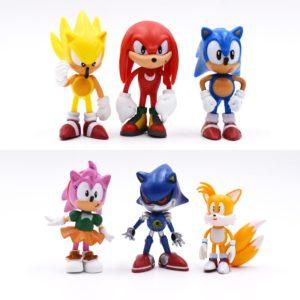 Sběratelská figurka Sonic a jeho přátel - 6 Ks