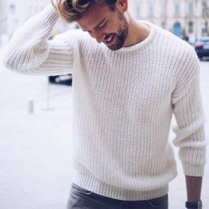 Pánský podzimní stylový svetr