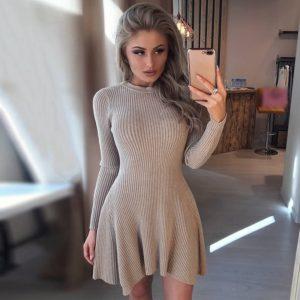 Dámské podzimní šaty s dlouhým rukávem Myla