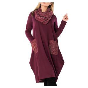 Dámské plus zize podzimní šaty Nicol