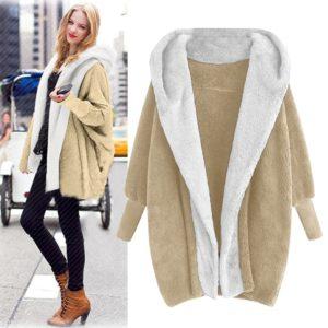 Dámský teplý zimní fleecový kabát Nola