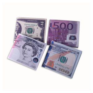 Pánská peněženka v motivu bankovek