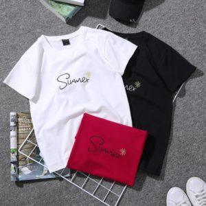 Dámské letní stylové triko s výšivkou Summer