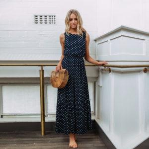 Dámské letní dlouhé šaty Vivian