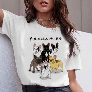 Dámské roztomilé tričko Bulldog