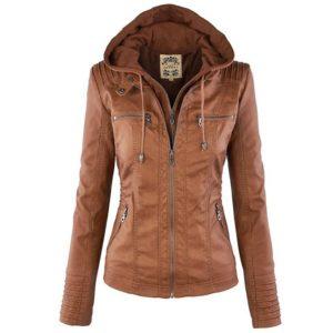 Stylová dámská kožená bunda