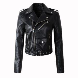 Dámská kožená stylová bunda
