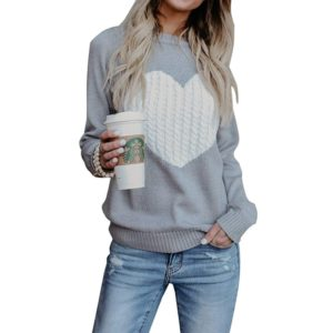 Dámský módní svetr Heart - kolekce 2020