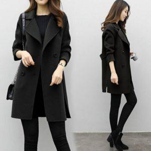 Dámský luxusní podzimní kabát Rhiana