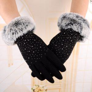 Dámské luxusní zimní rukavice Melia