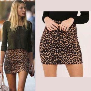 Dámská elegantní leopardí sukně