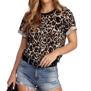 Dámské leopardí tričko Kiley
