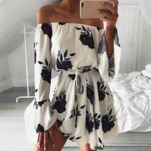 Dámské mini šaty s květinami