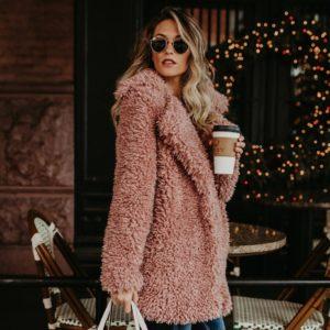 Dámský plyšový zimní kabát Darcie