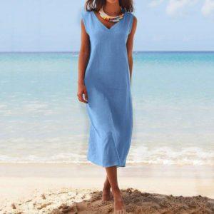 Dámské dlouhé pohodlné šaty Neriny