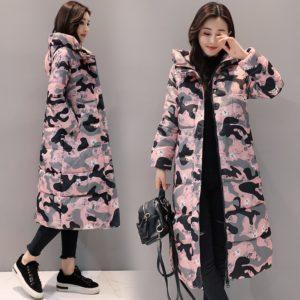 Dámský trendy maskáčový kabát Monica