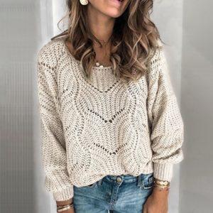 Dámský elegantní pletený svetr Gabriella
