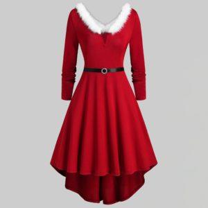 Dámské stylové vánoční dlouhé šaty Kady