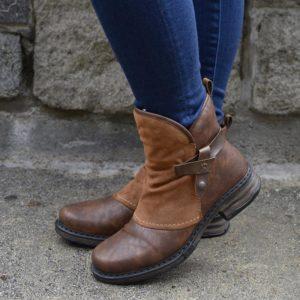 Dámské stylové zimní boty s kožíškem Cairon