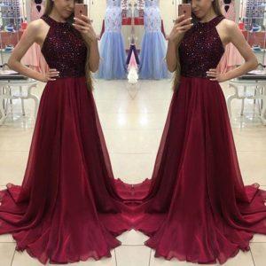 Dámské luxusní společenské dlouhé šaty