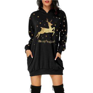 Dámská luxusní vánoční dlouhá mikina Lacey