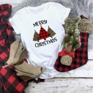 Dámské stylové triko s vánoční tématikou