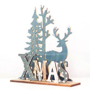 Dřevěná vánoční dekorace Elk