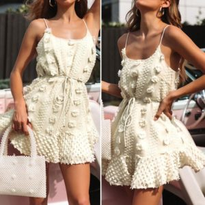 Dámské letní mini šaty na ramínka