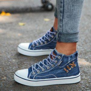 Dámské stylové kotníkové sneakers boty Handley