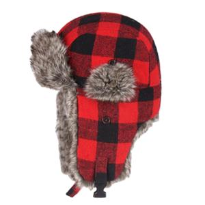 Pánská stylová kostkovaná zimní čepice Ginter