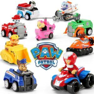 Postavičky v autíčkách Tlapková patrola.
