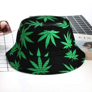 Unisex klobouk s motivem marihuana