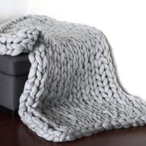 Pletená teplá deka