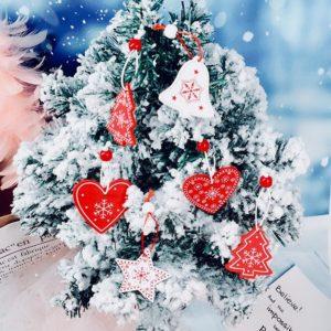 Dřevěné trendy vánoční dekorace