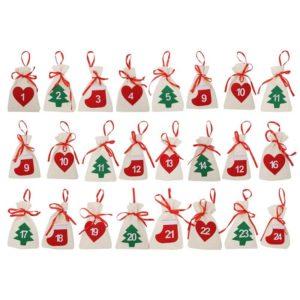 Vánoční závěsný adventní kalendář