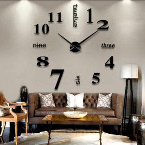 Dekorace - Svíticí hodiny na zeď