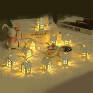 Dekorativní svítící domečky