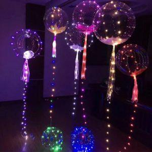 Vánoční led dekorace- balónky