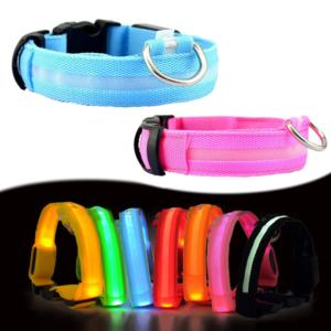 Svítící LED obojem pro psy