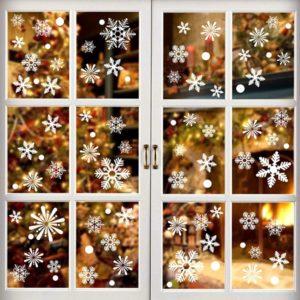 Vánoční nálepky na okno Snowflake - 36 Kusů
