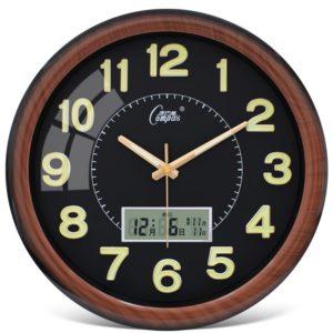 Barevné LED nástěnné hodiny s minutovým označením