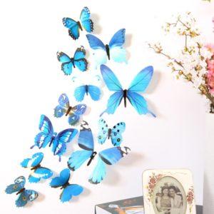 Samolepící 3D motýlci na zeď -12 ks