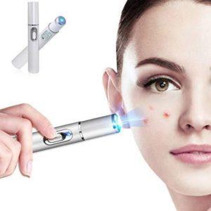 Modré laserové světlo na odstranění akné a vrásek