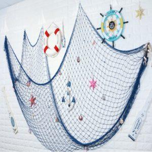 Závěsná dekorativní rybářská síť
