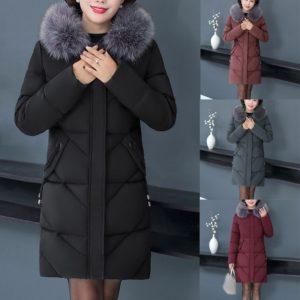 Dámska bavlnená zateplená zimná bunda