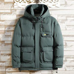 Pánská zimní bunda s kapucí Hood