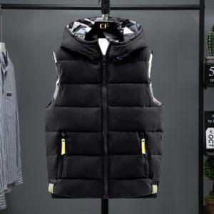 Winter Reversible Hooded Sleeveless Jackets Stylish Men's Vest Plus Size 6XL Double Side Windproof Warm Men Waistcoat West