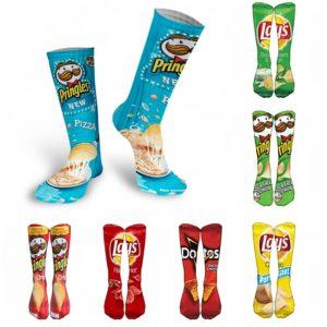 Vysoké 3D ponožky s několika motivy známých barmborových lupínků